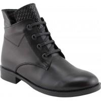 Act Shoes Γυναικεία Μποτάκια Δέρμα 91113 Μαύρο