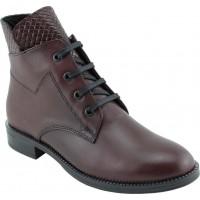 Act Shoes Γυναικεία Μποτάκια Δέρμα 91113 Μπορντώ