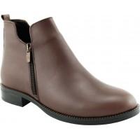 Act Shoes Γυναικεία Μποτάκια Δέρμα 91105 Ταμπά