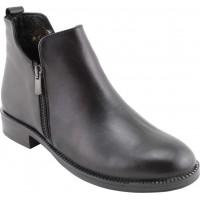 Act Shoes Γυναικεία Μποτάκια Δέρμα 91105 Μαύρο
