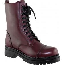 Act Shoes Γυναικεία Μποτάκια Δέρμα 81319M76 Μπορντώ
