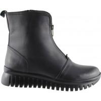 Act Shoes Γυναικεία Μποτάκια Δέρμα 82489 Μαύρο