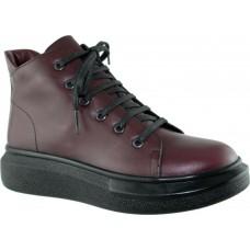 Act Shoes Γυναικεία Μποτάκια Δέρμα 201 Μπορντώ