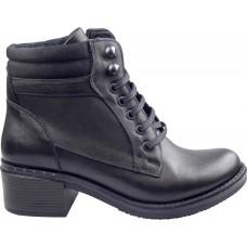 Act Shoes Γυναικεία Μποτάκια Δέρμα 91102 Μαύρο