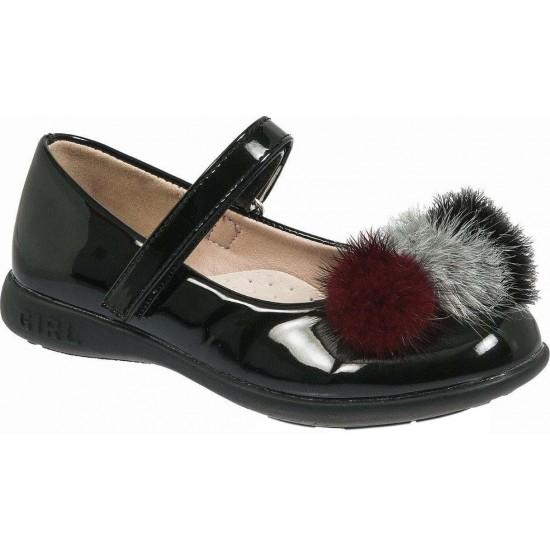Adam's Shoes Παιδικές Μπαλαρίνες 870-18502 Μαύρο Λουστρίνι