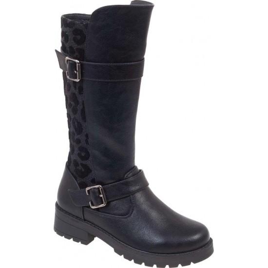 Adam's Shoes Παιδικές Μπότες 804-19506 Μαύρο