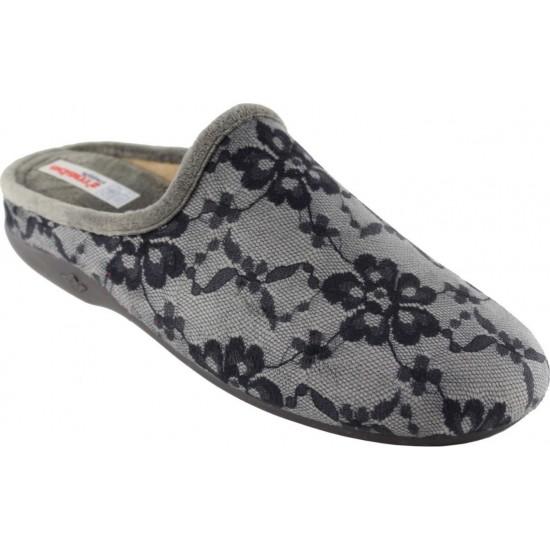 Adam's Shoes Γυναικείες Παντόφλες 624-6571 Γκρί