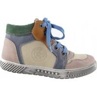 Adam's Shoes Παιδικά Μποτάκια Δέρμα 519-4531 Μπέζ