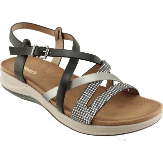 Adams Shoes Γυναικεία Πέδιλα Flatforms 927-20005 Μαύρο