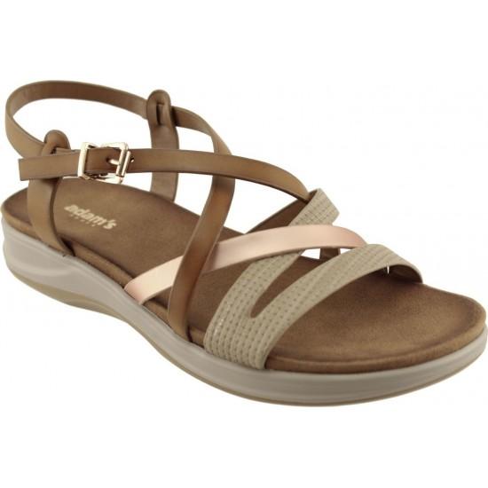 Adams Shoes Γυναικεία Πέδιλα Flatforms 927-20005 Ταμπά
