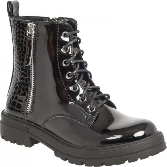 Adam's Shoes Παιδικά Μποτάκια 852-20507 Μαύρο Λουστρίνι