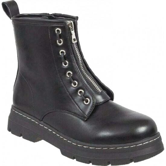 Adam's Shoes Γυναικεία Μποτάκια 829-20519 Μαύρο