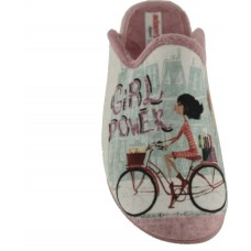 Adam's Shoes Γυναικείες Παντόφλες 624-20616 Ρόζ
