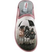 Adam's Shoes Γυναικείες Παντόφλες 754-19517 Ρόζ