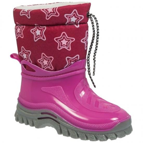 Adam's Shoes Παιδικές Γαλότσες Apres Ski 528-18508 Φούξια