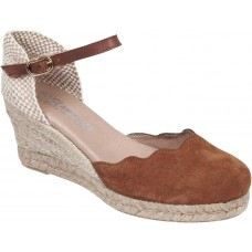 Adam's Shoes Γυναικείες Εσπαντρίγιες Flamingo Δέρμα 743-20004 Ταμπά