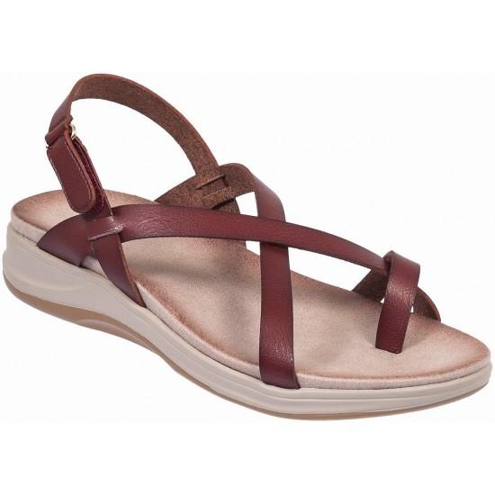 Adams Shoes Γυναικεία Πέδιλα Flatforms 927-19001 Καφέ