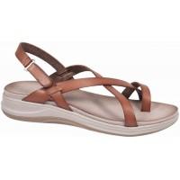 Zak Shoes Γυναικεία Πέδιλα Flatforms Δέρμα GK203 Nude