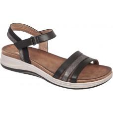 Adam¨s Shoes Γυναικεία Πέδιλα Flatforms 927-20001 Μαύρο
