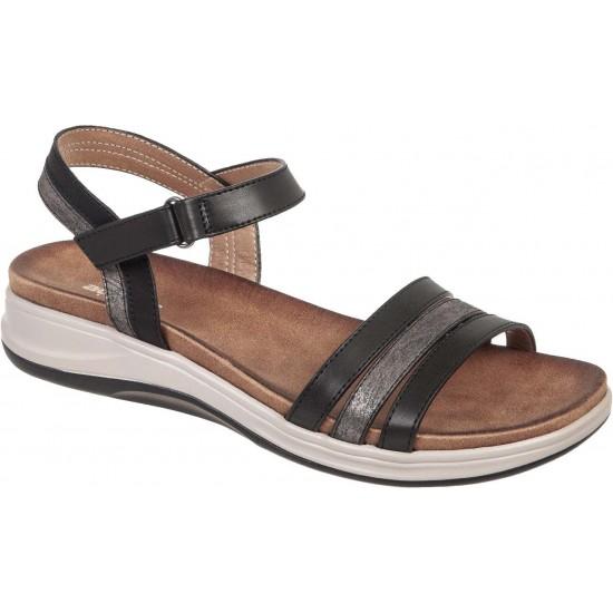 Adams Shoes Γυναικεία Πέδιλα Flatforms 927-20001 Μαύρο