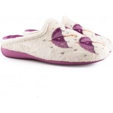 Adam's Shoes Γυναικείες Παντόφλες 701-20537 Μπέζ Λιλά