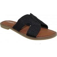 Adam's Shoes Γυναικεία Σανδάλια 822-21016 Μαύρο