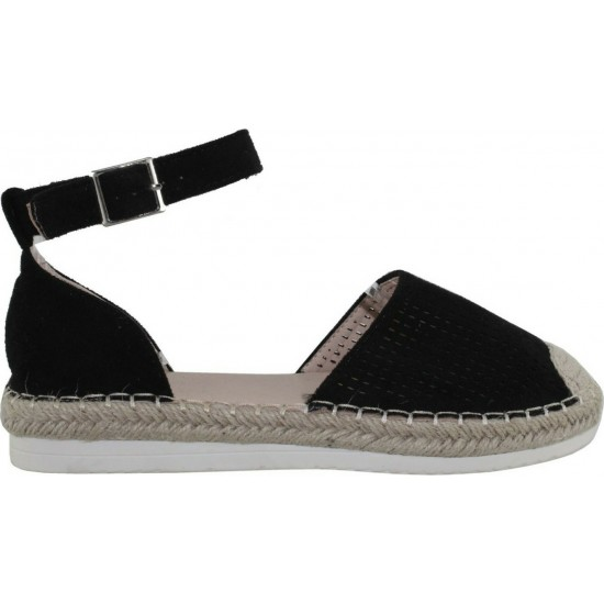 Adam's Shoes Γυναικείες Εσπαντρίγιες 911-21003 Μαύρο