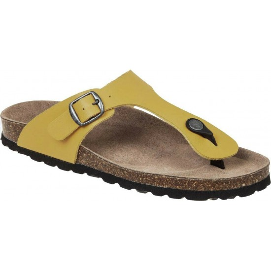 Adam's Shoes Γυναικεία Σανδάλια 708-21003 Κίτρινο