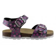 Adam's Shoes Παιδικά Πέδιλα 708-21013 Γραφίτης Φλοράλ