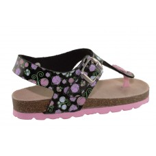 Adam's Shoes Παιδικά Πέδιλα 708-21019 Μαύρο Φλοράλ