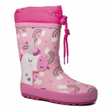Adam's Shoes Παιδικές Γαλότσες 762-21539 Ροζ