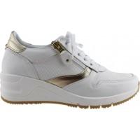 Femina by Antonio Γυναικεία Sneakers Δέρμα 905 Λευκό Χρυσό