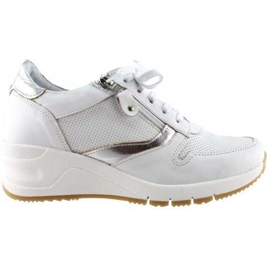 Femina by Antonio Γυναικεία Sneakers Δέρμα 905 Λευκό Ασημί