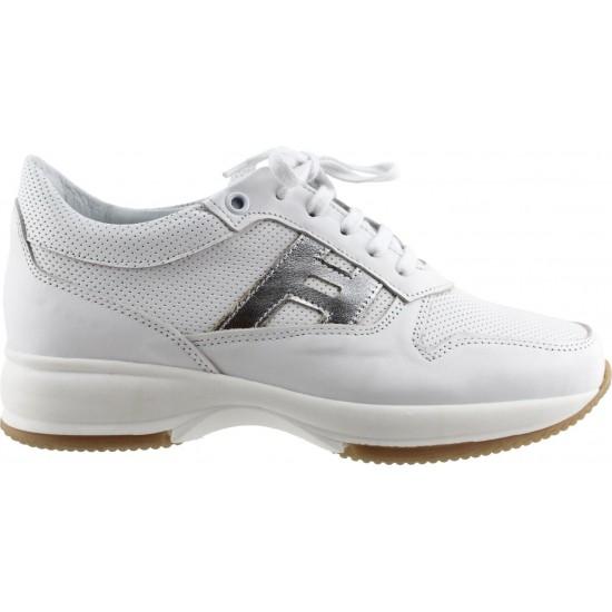 Femina by Antonio Γυναικεία Sneakers Δέρμα 902 Λευκό Ασημί