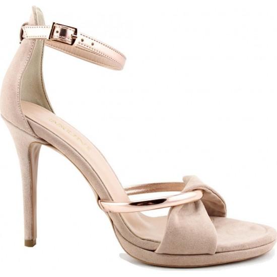 Bruni Shoes Γυναικεία Πέδιλα 15319 Nude Suede