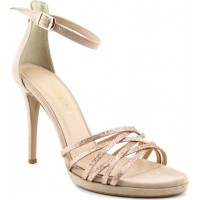 Bruni Shoes Γυναικεία Πέδιλα 14919 Nude Suede