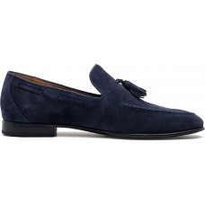 Damiani Ανδρικά Loafers Δέρμα 590 Μπλέ Suede