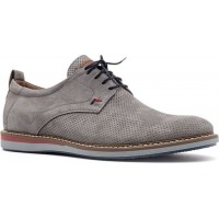 Damiani Ανδρικά Casual Δέρμα 628 Γκρί Suede