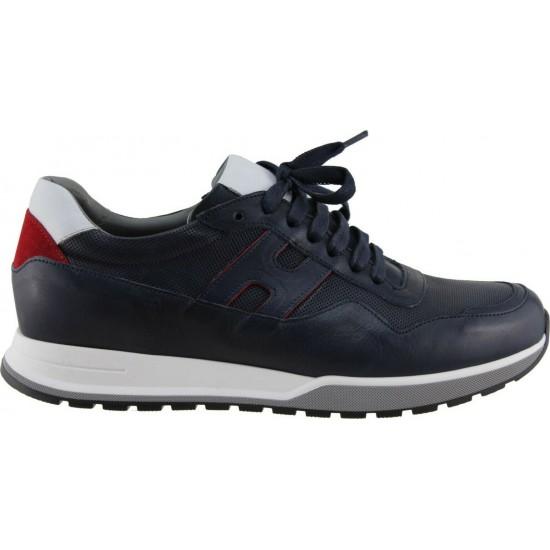 Damiani Ανδρικά Sneakers Δέρμα 1702 Μπλέ