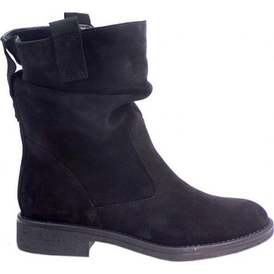 Envie Shoes Γυναικεία Μποτάκια Δέρμα E02-06320-14 Μαύρο Suede