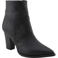 Envie Shoes Γυναικεία Μποτάκια E02-10150-34 Μαύρο Φίδι