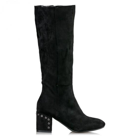 Miss NV Γυναικείες Μπότες V45-08862-34 Μαύρο Suede