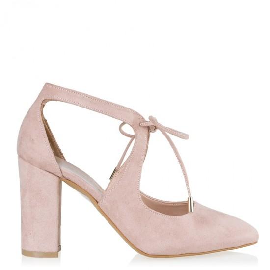 Envie Shoes Γόβες E02-07411 Nude Suede