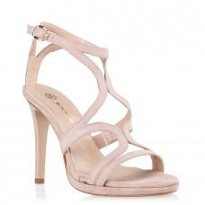 Envie Shoes Γυναικεία Πέδιλα E02-07607-90 Nude Suede
