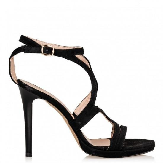Envie Shoes Γυναικεία Πέδιλα E02-07607-34 Μαύρο Suede