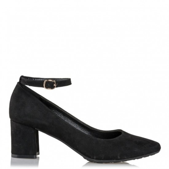 Envie Shoes Γυναικείες Γόβες E02-08305-34 Μαύρο Suede