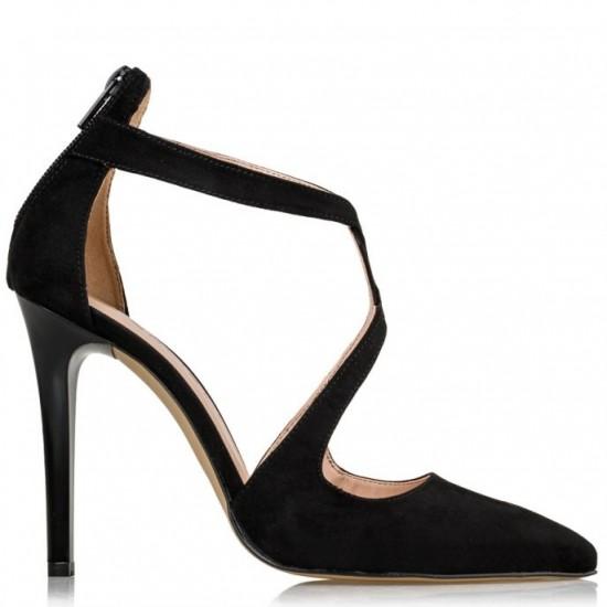 Envie Shoes Γυναικείες Γόβες E02-11170-34 Μαύρο Suede