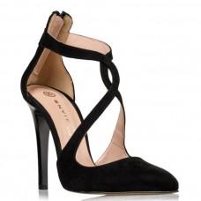 Envie Shoes Γυναικείες Γόβες E02-09060-34 Μαύρο Suede