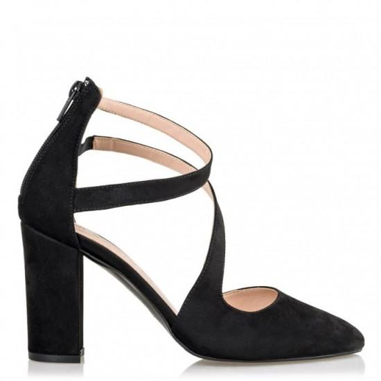 Envie Shoes Γυναικείες Γόβες E02-09080-34 Μαύρο Suede
