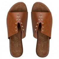 Zak Shoes Γυναικεία Σανδάλια Flatform GK1611 Μαύρο Leopard